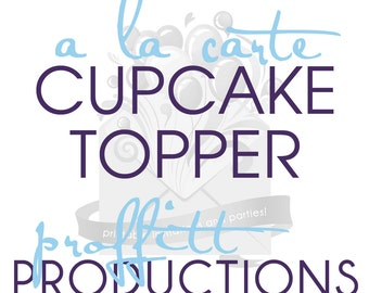 Printable cupcake topper or party circles in any theme offered in my store