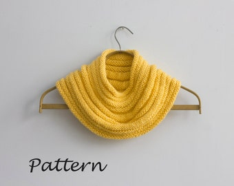 Fitted Cowl Knitting Pattern, Instant Download pattern, Circle Scarf PDF Pattern,  Knit Eternity Scarf Pattern