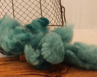 Wool, Teal Blue Hand Dyed Romney Locks, Romney Wool Locks # 626