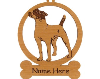 Parson Terrier Ornament 083669 Personalized With Your Dog's Name
