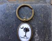 Carolina Girl - glass keychain