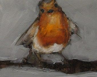 ROCKIN' ROBIN BIRD - Giclee print from my original oil painting - Bird Art