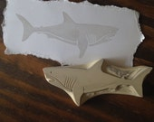 Great White Shark Rubber Stamp Hand Carved