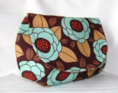 Clutch Purse Bloom in Bark with magnetic snap, Makeup Bag, Mother's Day Gift Idea - Ready to Ship