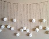 DIY Tissue Paper Flower Wedding Garland Kit, Photography Prop, Party Decoration, Pom Poms Garland
