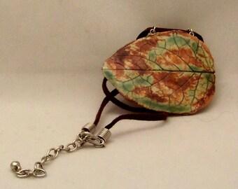 Ceramic Pendant - Autumn Leaf