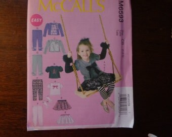 McCall's 6593 toddlers' outfit pattern