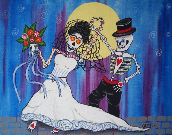 Day of the dead the wedding dance frida kahlo and for Diego rivera day of the dead mural