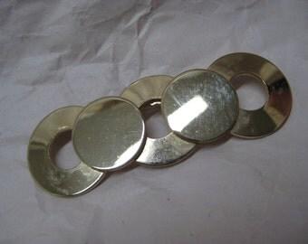 Circle Gold Brooch Vintage Pin