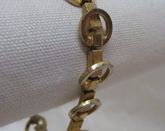 Shabby Gold Circle Texture Modern Bracelet Vintage