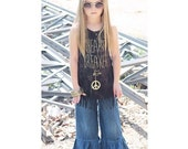 Back to School - Big Ruffle Pants - Dark Denim - Infants through Girls Sizes