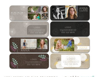 Anna Senior Rep Cards - Designs for any Occasion - Marketing Tool - 8 Files - Photoshop Templates for Photographers - SC2001