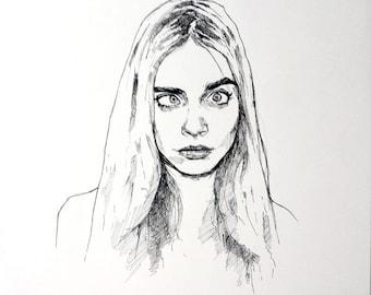 Cara Delevingne - Original Drawing