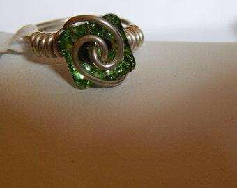 Swarovski Crystal and Sterling Silver Ring