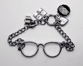Book Lovers Glasses Bracelet Bibliophile Bookish Jewelry