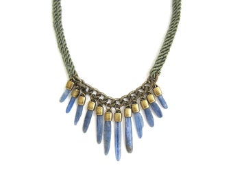 Blue Phase Kyanite Necklace