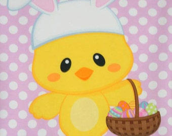 Easter Chick on Pink