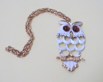 1970s Articulated OWL Necklace