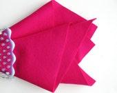 Cerise Wool Felt, Reddish-Pink, Choose Size, 100% Merino, Pure Wool Felt, Sewing Fabric, Quilt Applique, DIY Felt Accessory, Craft Felt