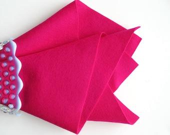 Wool Felt, Felt Sheet, Choose Size, Cerise, 100% Merino Fiber, Pure Wool Felt, Sewing Fabric, Quilt Applique, DIY Felt Accessory, Craft Felt