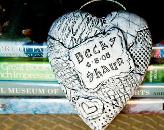 Personalized Handmade Heart / Wedding / Anniversary / Wall Hanging / Custom Gift