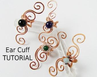 Swirly Ear Cuff - Wire Wrapped Jewelry Making TUTORIAL