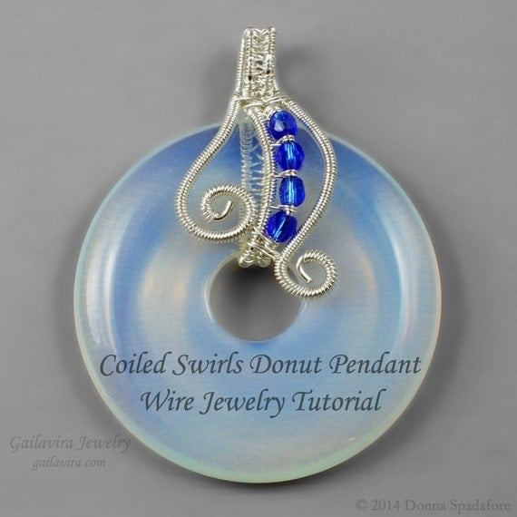 wire wrapped pendant donuts - photo #13