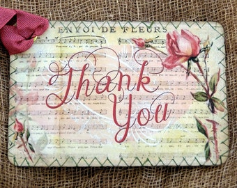 Thank You Rose Music Sheet Tags #486