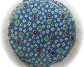 Vintage Feedsack Feed Sack Fabric Circles Cadet Blue 12 -  5 inch Yo Yo Circles