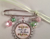 RESERVED FOR Tracey- Personalized Wedding Pin Brooch