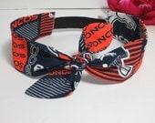 Denver Broncos Headband  - Adult Broncos headband- Broncos Headbands - Super Bowl