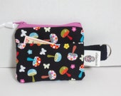 Mushroom Coin Purse - Mini Mushroom Keychain purse - Keychain Coin Purse