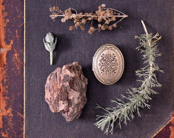 Chaparral natural solid perfume mini compact, for the Naturalist - California white sage, smoke and the wild woodland - Back to School