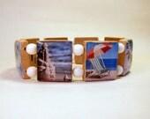 BEACH SCRABBLE Bracelet / Handmade Jewelry / Unusual Gifts / Seashore / Ocean