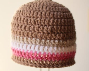 Crochet Hat Pattern - Seamless DC Hat (all sizes)