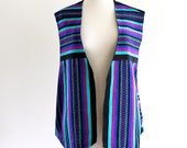 80s Woven Knit Indie Slouch Oversized Sweater Shirt Blouse Vest Top . L . XL . D169 . No.588.10.23.13