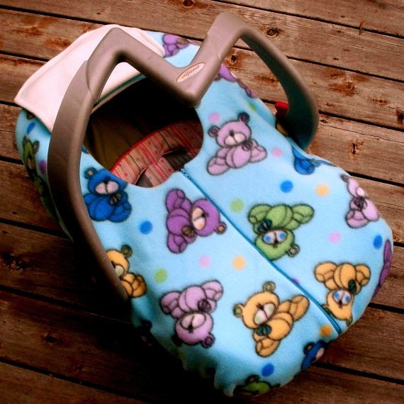 infant car seat cover winter car seat cover cuddly teddy. Black Bedroom Furniture Sets. Home Design Ideas