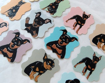 Reserved - Min Pin Die Cut Collection - Eco-friendly Set of 24 - Scrapbooking Embellishment
