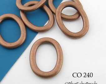20mm Antique Copper Oval Jump Ring, Thick Closed Connector, Oval Link (CO 240)  12 pcs BlueEchoBeads
