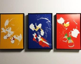 Framed Sonic The Hedgehog Trio of 4x6 Prints