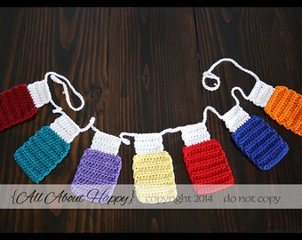 Crochet Essential Oil Bunting Pennant Garland