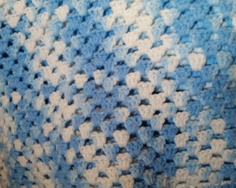 blue ombre afghan