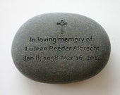 Custom Engraved Memorial Stone Personalized Rock Grave Stone Marker