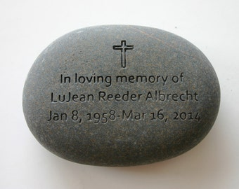 Custom Engraved Memorial Stone Personalized Rock
