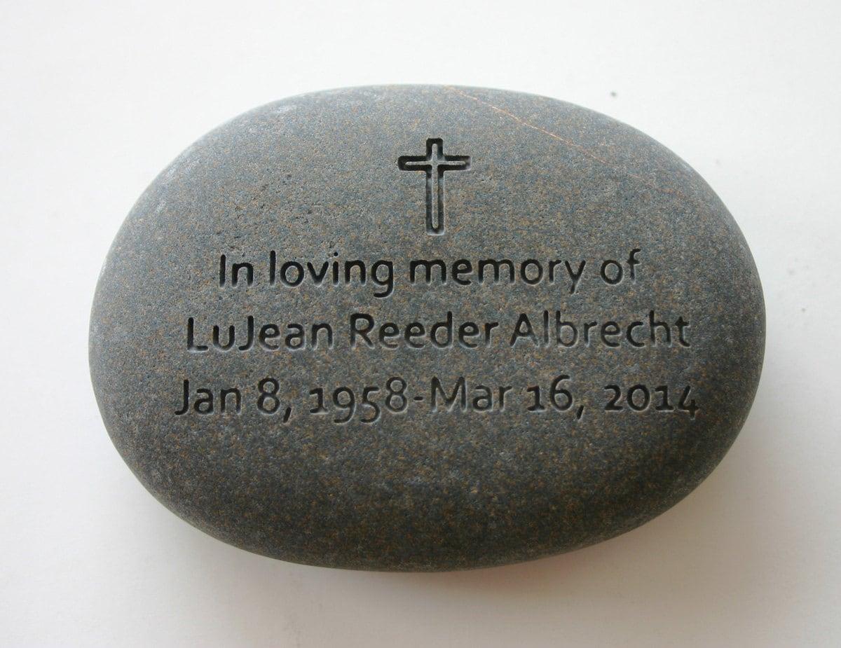 Custom Engraved Memorial Stone Personalized Rock