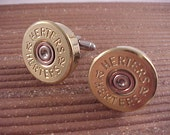 Bullet Cuff Links Herters 12 Gauge Shotgun Shell Recycled Repurposed