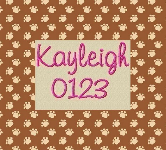 Kayleigh Embroidery Font 4 Size