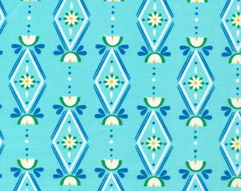 Sale, Organic Cotton Fabric, Cloud9, Lotus Pond , Diamonds are Forever , Blue, by the half-yard