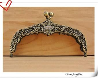 5 inch anti bronze brush diecasting purse frame   D8