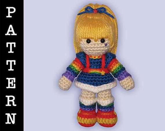 Crochet Pattern - Amigurumi Rainbow Brite Doll